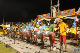 Second place large bands courts Babonneau steel Orchestra.