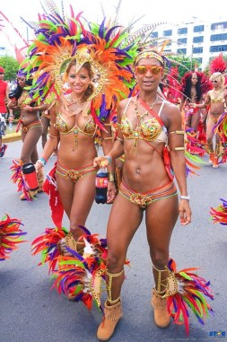 Carnival bodies toned and tight.