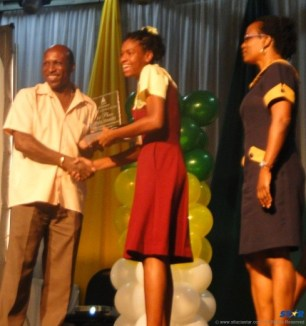 National Achiever of the Year; Ms. Phebe Alexander, Choiseul Secondary School