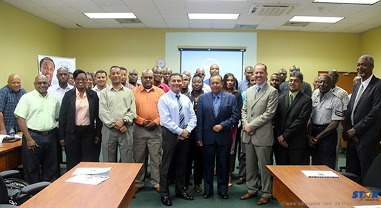 Participants and presenters at the Trinidad workshop.