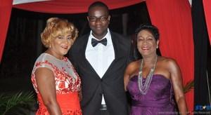 Cheryl Gustave, Kadius Louis and Berthia Parle of  Bay Gardens Resorts at last Saturday's awards.