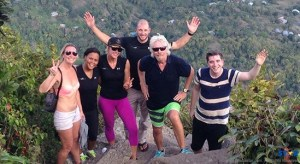 Richard Branson and crew make it to the top.