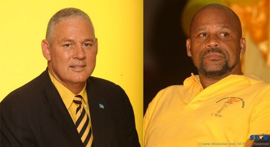 Left - UWP political leader Allen Chastanet: Have his engines run out of gas? Right - UWP chairman Ezekiel Joseph: What does he know that Kenny knows?