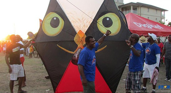 Ready for take off: One of the kites at the XS Energy Kite-Flying event (photo Jerry George).
