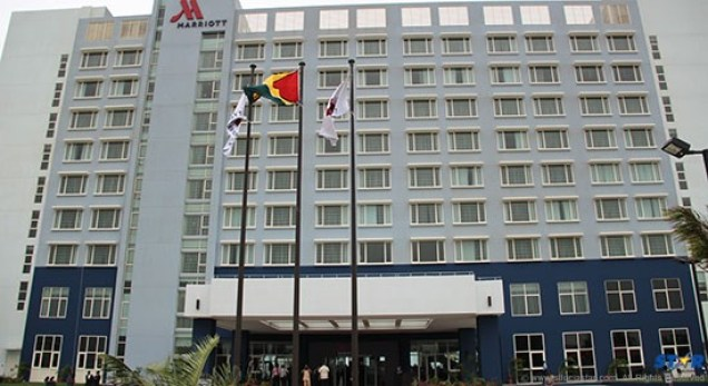 The Marriott standing tall in Georgetown, Guyana.