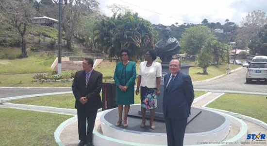 Prime Minister Kenny Anthony, Shirley Lewis, Mayor of Castries, Governor General Dame Pearlette Louisy, and the French Ambassador to Saint Lucia Eric de La Moussaye, were among those in attendance.