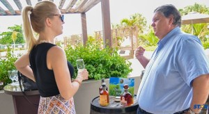 Sales and Marketing Director for St Lucia Distillers, Michael Speakman explaining how Chairman's Reserve gets its wonderful taste.