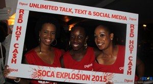 The DIGICEL ladies at Ricky T & Friends Soca Explosion!