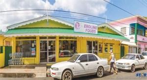 Eroline Foods in Soufriere.
