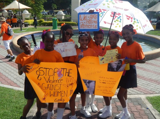 They may be young but they were big on the march for the elimination of violence towards women on Wednesday.