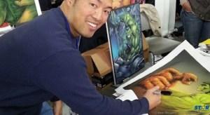 Artist Norman Lee.