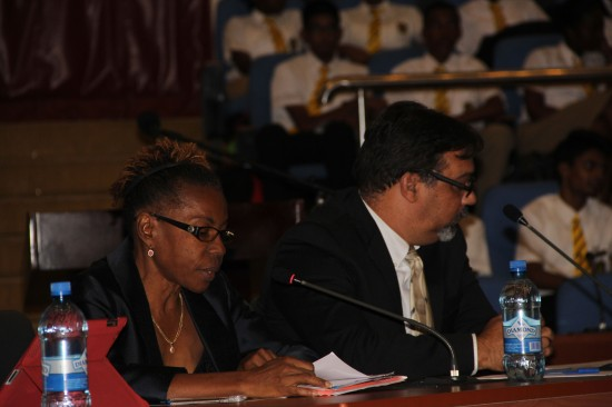 Marie Yolene Giles representing a human rights group in Haiti presents a case for the end of the death penalty.