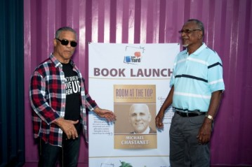 STAR publisher Rick Wayne with politician and writer Peter Josie.