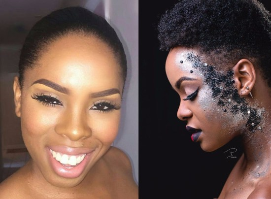 (Left) The enterprising Latoya Lewis. (Right) Face by Glamour Art by Toya.