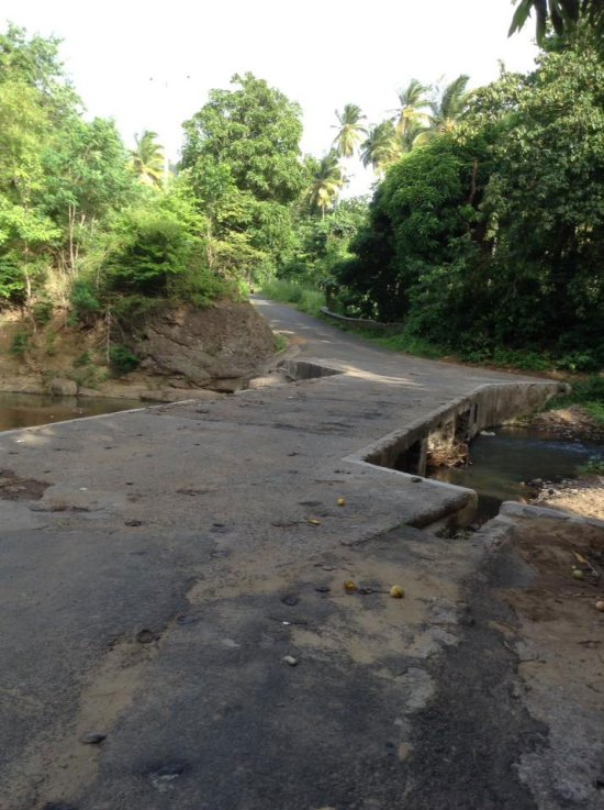 La Maison Bridge connects Des Barras to Garrand and environs in Babonneau. It was the scene of a most heinous crime in 1979.