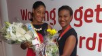 Digicel's-Country-Manager-Siobhan-James--Alexander-surprises-Miss-Digicel-with-gifts-from-Team-Digicel
