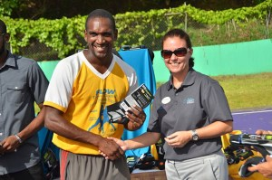 Trevor Daniel, Flow-Trevor Daniel Football Development Programme_ Martina Roth, Hotel Manager at Sandals Halcyon