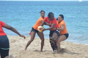 Women's beach rugby