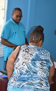 Customers visting the Flow retail outlet in Soufriere received immediate technical support