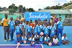 Football Stars in the making - Kenneth Wriggler King Court - Castries