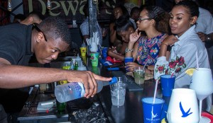 Bartenders trying their hands at what they have learnt