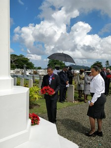 Acting Prime Minister Lays Wreath at Choc Cemetery