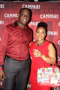 Campari Brand Manager Saint Lucia Denver Alcee with Michelle Brown Campari Regional Commercial Director