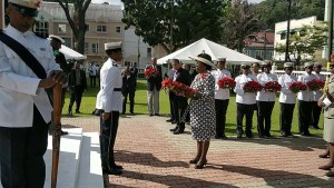 Governor General lays wreath at Derek Walcott Square