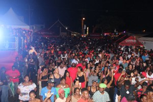 The massive crowd at the Campari Road to Trini Carnival Launch