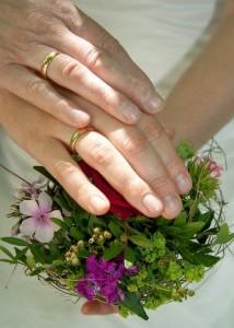 Hände Hochzeitspaar
