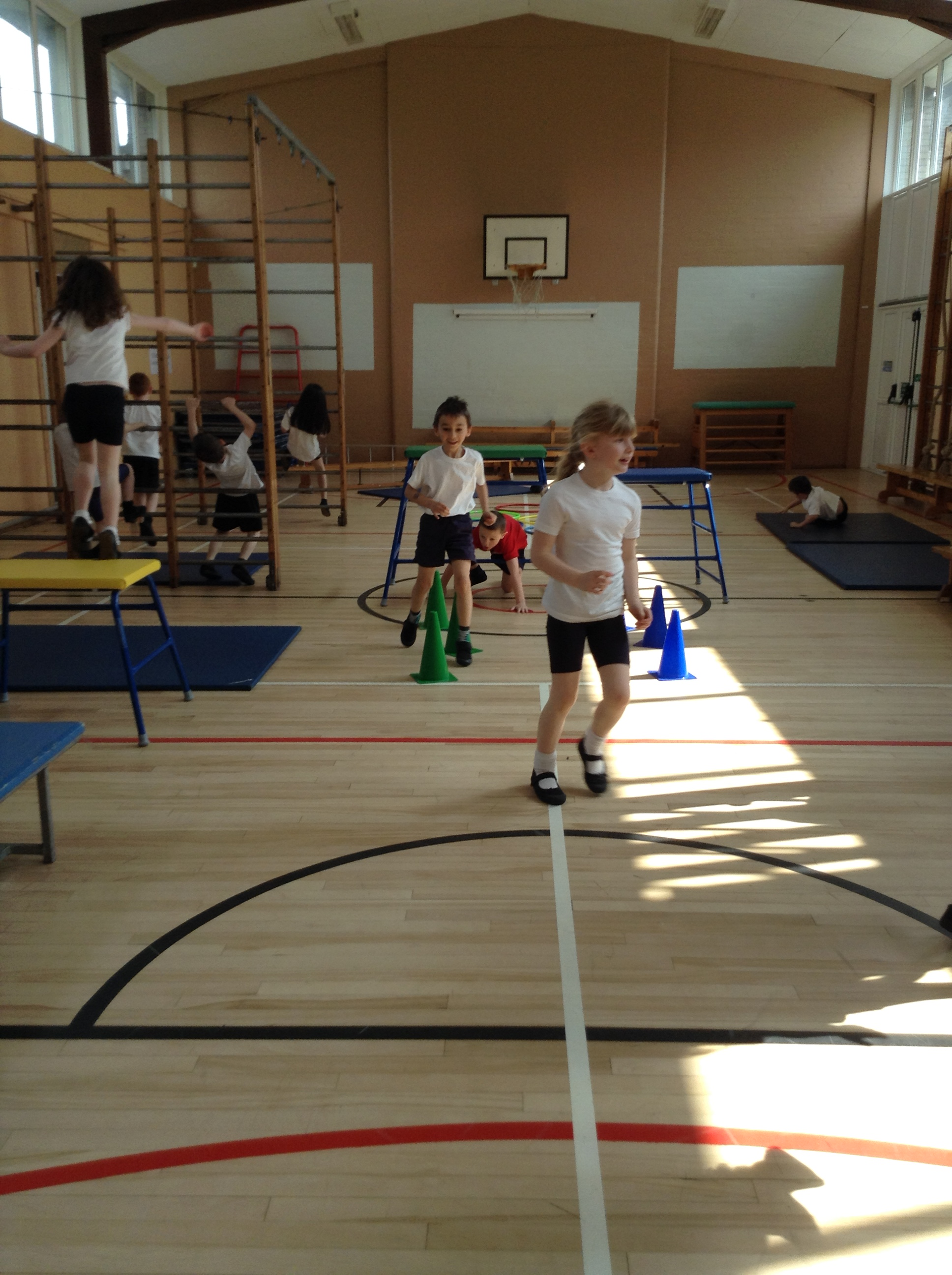 P2 take on an Obstacle Course  St Lukes RC Primary School