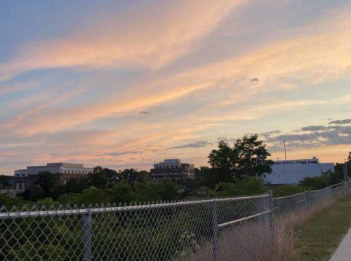Sunset over Norwood