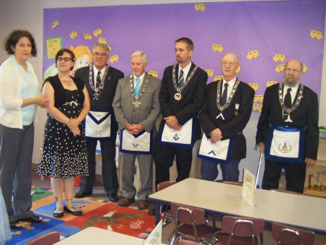 St. Mark's Lodge at the opening of the new Derry Public Library Children's Space