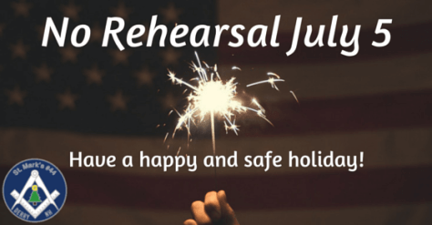 No Rehearsal - 4th of July