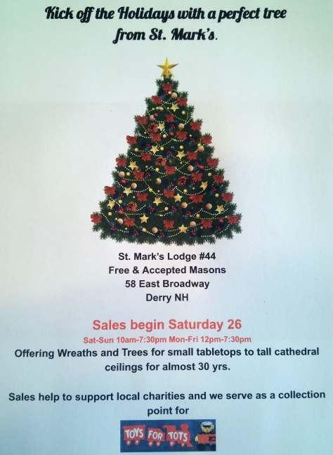 2016 Christmas Tree Sale
