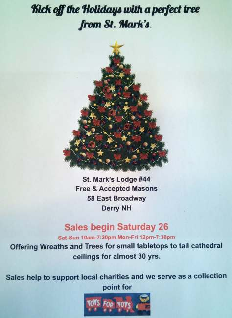 2016 Christmas Tree Sale