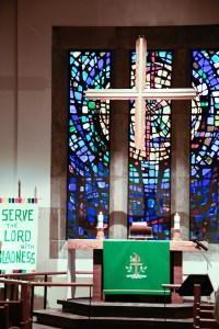 Altar area in the sanctuary