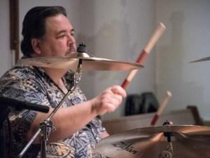 Worship band drummer