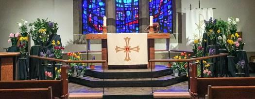 Altar at Easter
