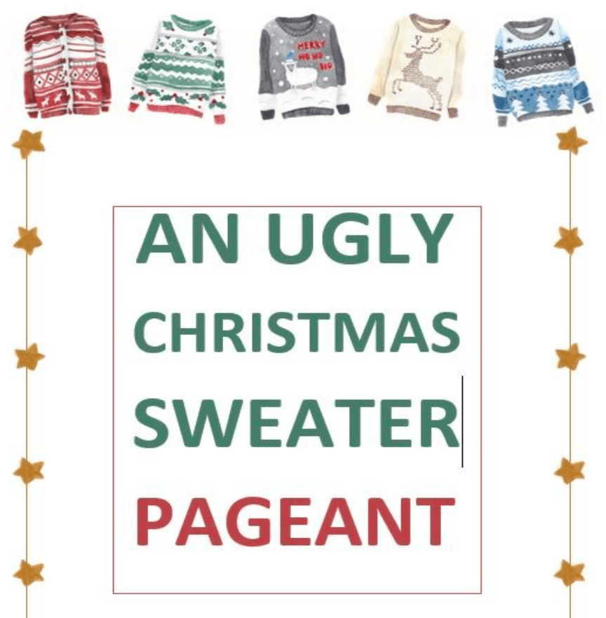 Ugly Christmas Sweater Pageant promo