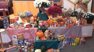 Thanksgiving Display Donations for the Food Bank
