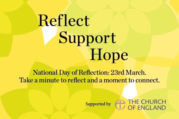 Reflect Support Hope National Day of Reflections 23rd March: take a minute to reflect and a moment to connect