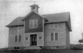 The second St. Mary's school structure, dedicated in August 1915.