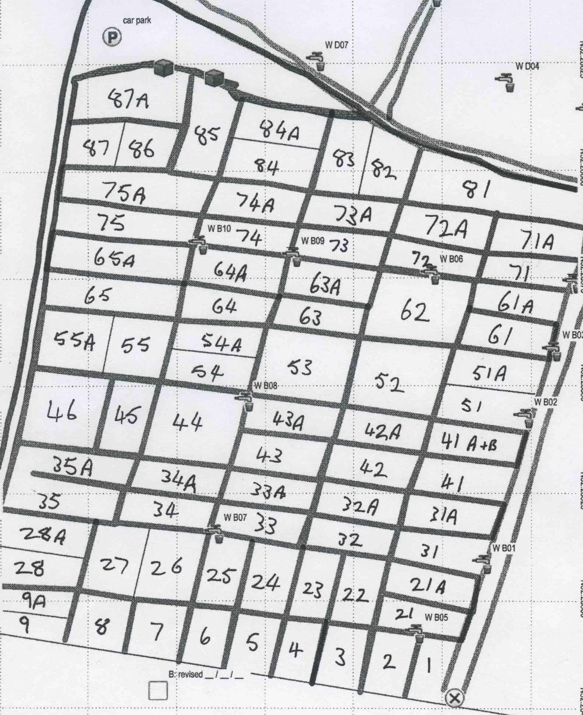 Plot Map Sector B