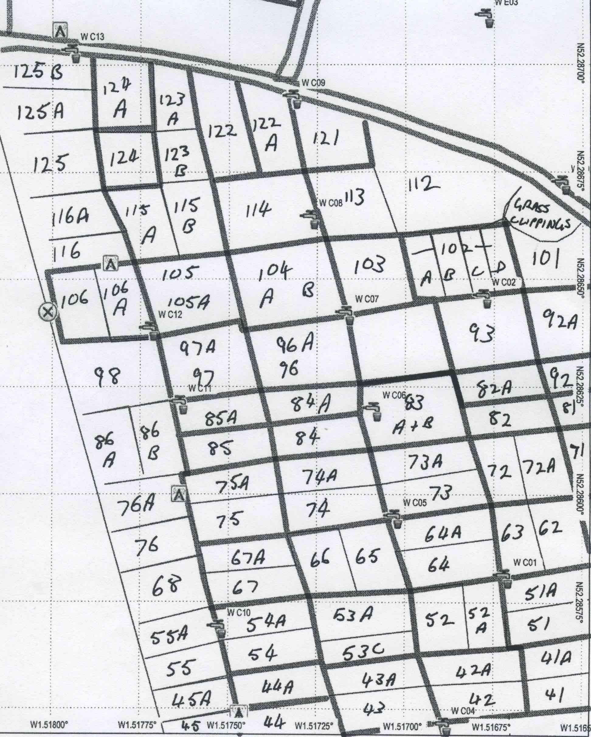 Plot Map Sector C North
