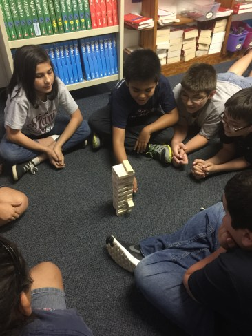 Prayer Jenga - Tell something you are thankful for in creation, then move a piece of the tower