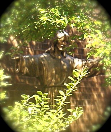 Garden of Remembrance Jesus figure