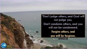 photo of pacific coast beach for the forgive each other bs Luke 6:37
