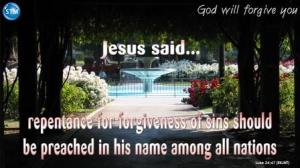Picture of fountain at San Jose Municipal Rose Garden for the god will forgive you Bible study Luke 24:47
