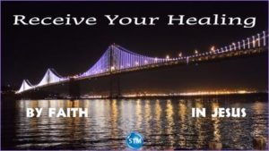 Picture of SF Bay bridge night lights for the receive your healing bible study